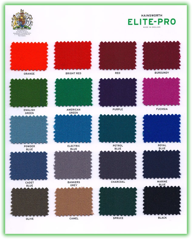Speed Cloth (Wool / Nylon Mix) Suitable For American Pool Tables   Colours  Available