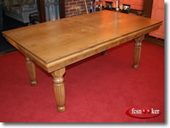 7 foot dining table 4 foot foot century in mahogany with green cloth table top fitted fcsnooker examples of recently manufactured convertible pool