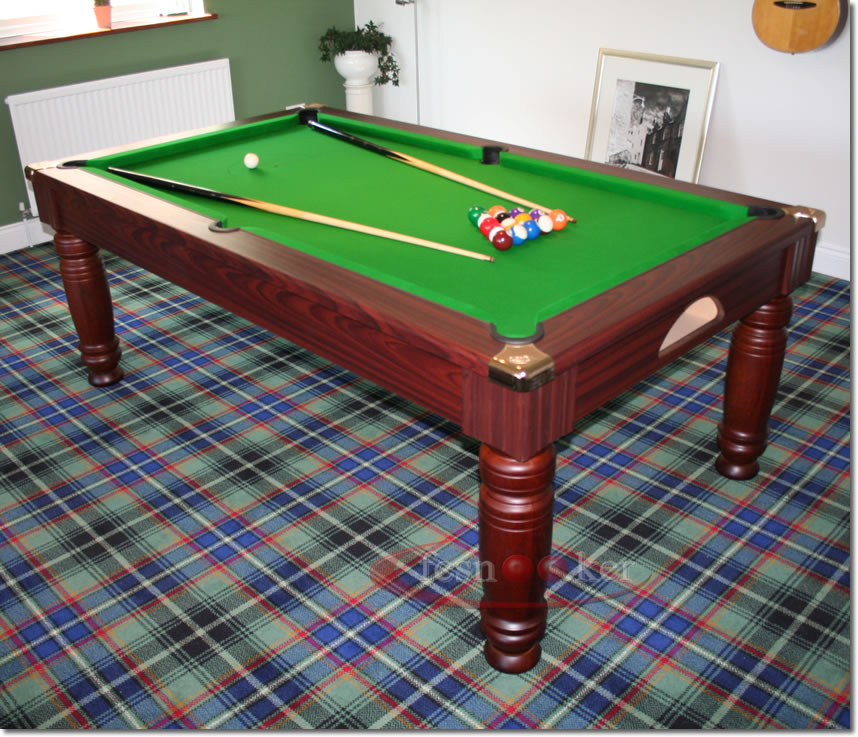 Fcsnooker Presents The The Royal Turned Leg Convertible English - Six foot pool table