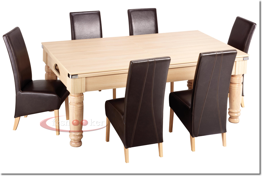 Fcsnooker presents the the royal turned leg convertible english pool dining table in oak - Dining kers ...