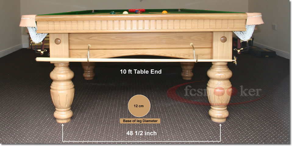 Fcsnooker snooker table hole centres for the table legs for 10 x 5 snooker table