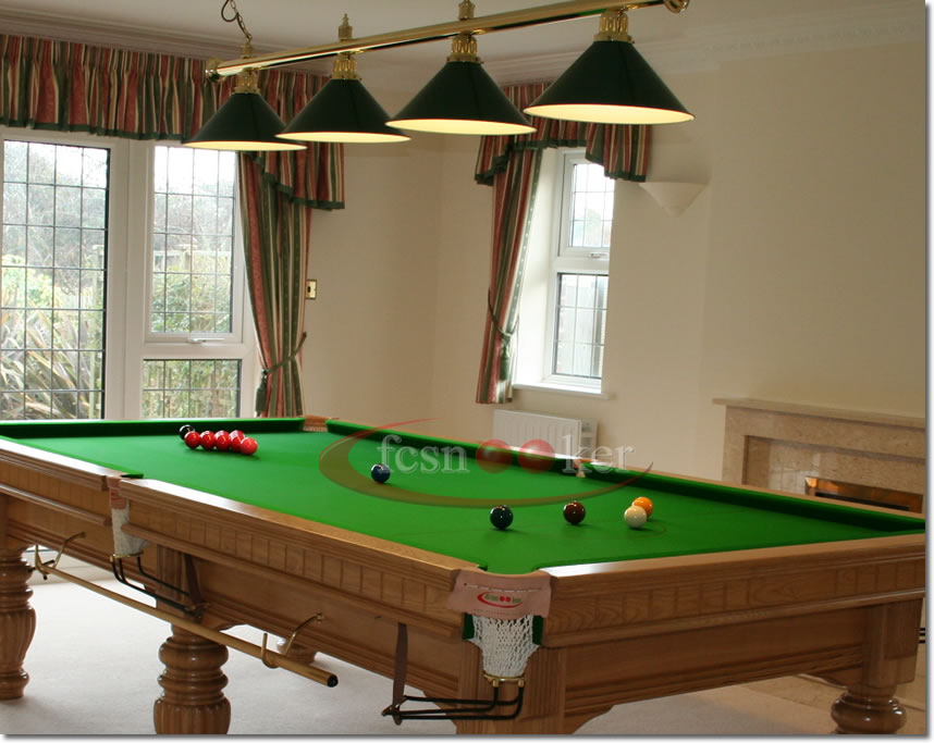 Fcsnooker Brass And Chrome Light Rail Measurements - 9 foot pool table room size