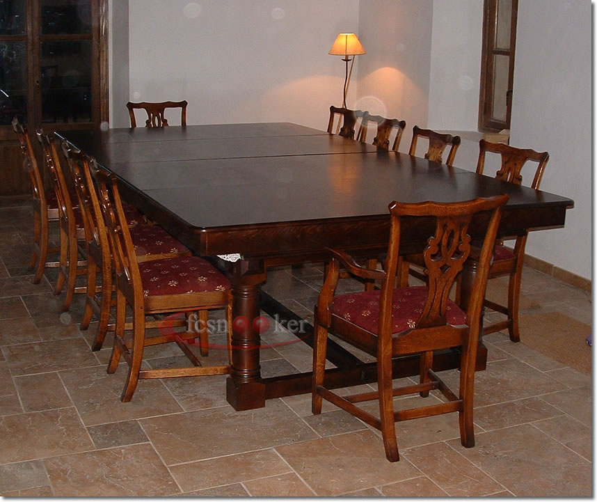 Fcsnooker recently manufactured shipped and delivered snooker dining table installed in palma - Dining kers ...