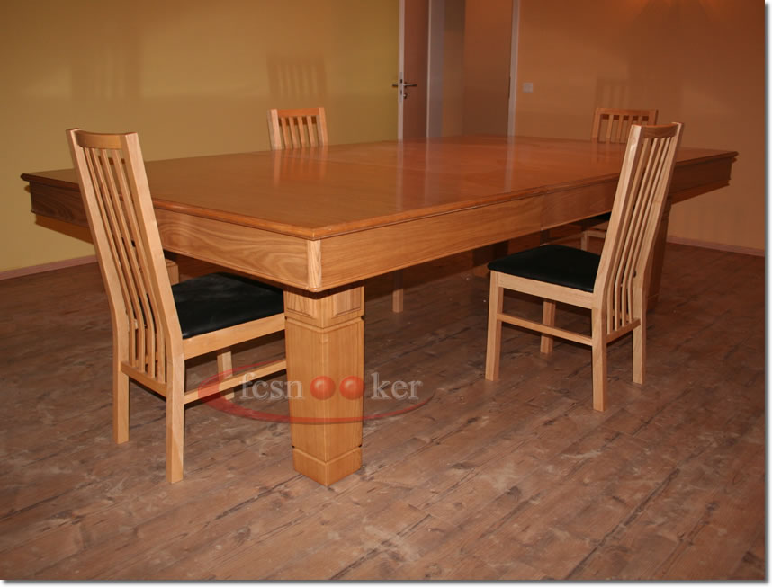 Fcsnooker recently manufactured shipped and delivered snooker dining table installed in - Dining kers ...