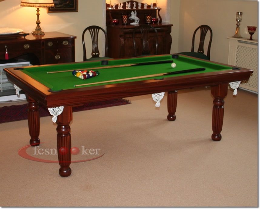 welcome to fcsnooker pre owned convertible english pool dining table on offer 7 foot x 4. Black Bedroom Furniture Sets. Home Design Ideas