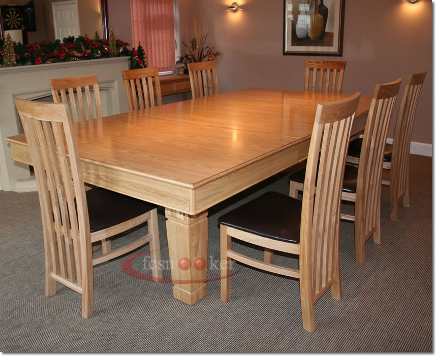8 foot dining table elegance oak purple top chairs logo claw 9 long