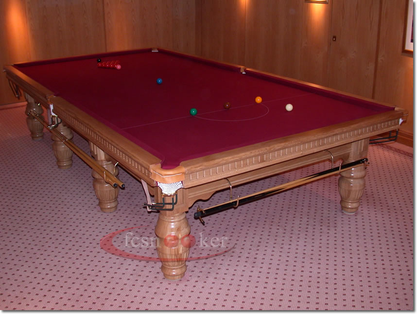 Fcsnooker presents the buckingham turned leg snooker for 10 x 5 snooker table
