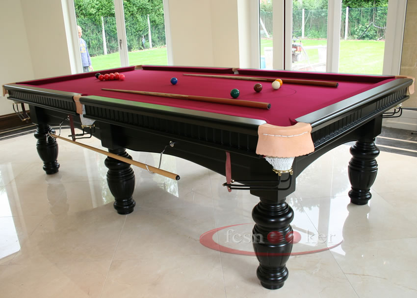 Fcsnooker presents the elite finished in black turned for 10 x 5 snooker table