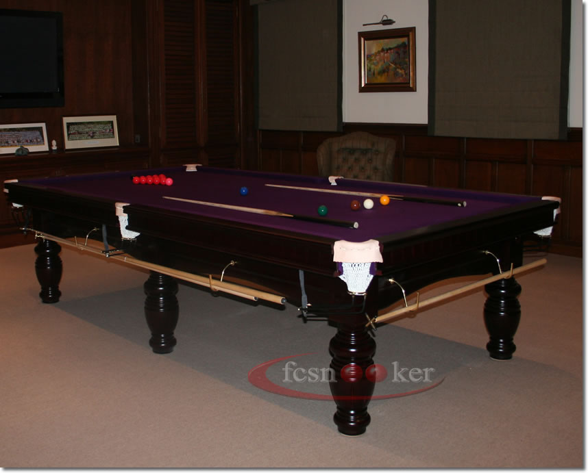 Fcsnooker presents the elite in mahogany turned leg for 10 x 5 snooker table