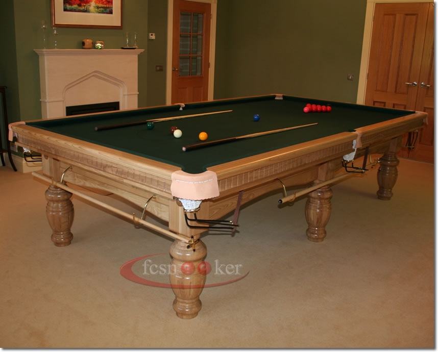 Fcsnooker presents the elite in oak turned leg for 10 x 5 snooker table