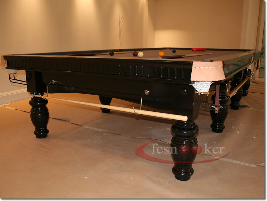 Fcsnooker presents the elite finished in black turned for 10 foot table cloth