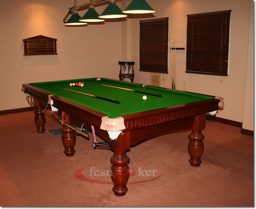 Fcsnooker presents the elite finished in walnut turned for 1 4 size snooker table