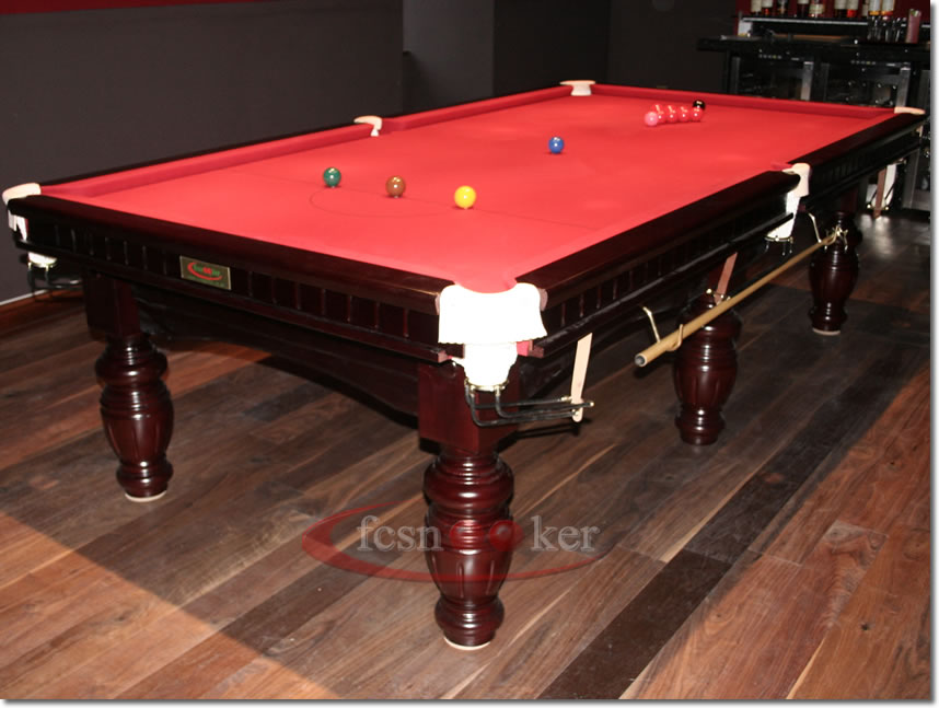 Fcsnooker presents the elite in mahogany turned leg for 10 foot table cloth