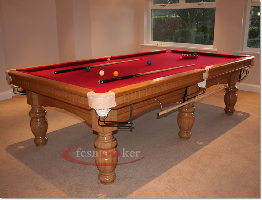 Fcsnooker presents the elite in oak turned leg for 10 foot snooker table