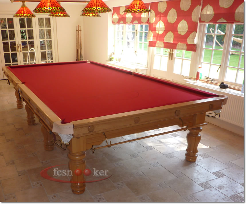 Fcsnooker presents the majestic turned leg snooker for 10 ft table cloth