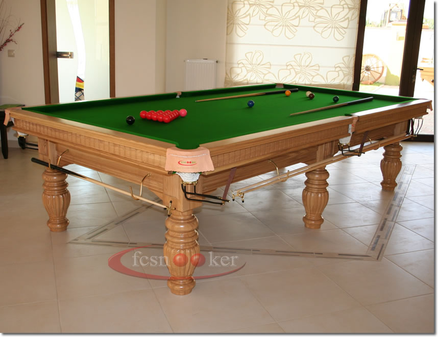 Fcsnooker presents the regal in oak turned leg snooker for 10 foot snooker table