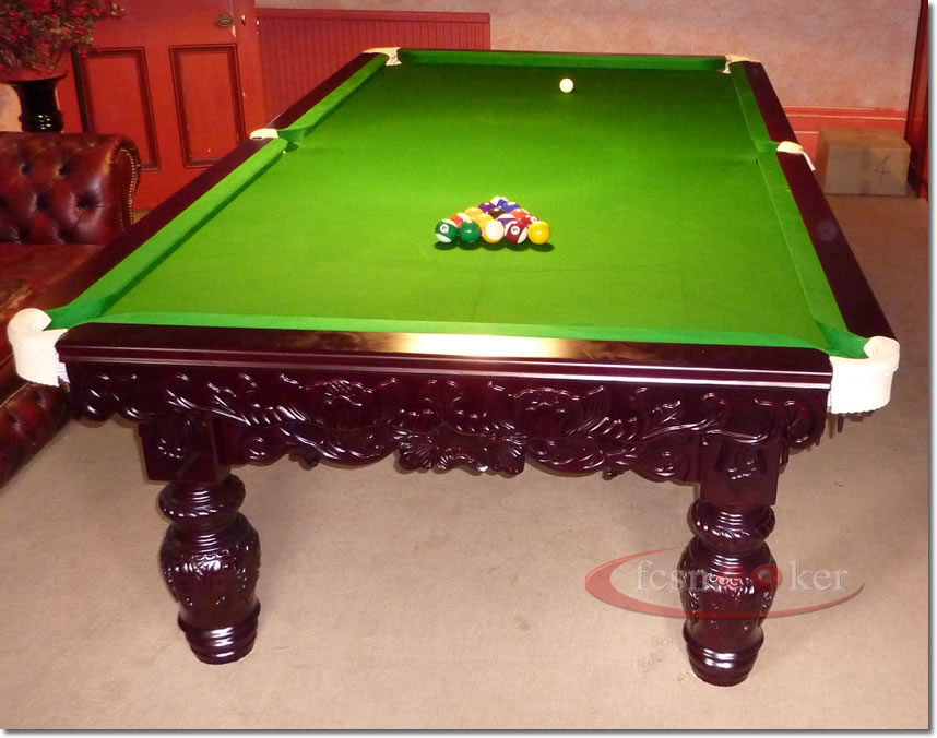 Fcsnooker presents the royal turned leg snooker table for 10 foot snooker table
