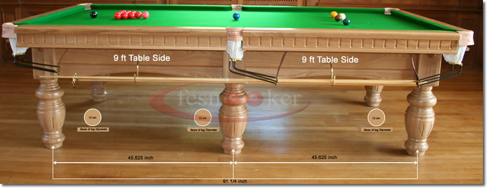 Fcsnooker Snooker Table Hole Centres For The Table Legs